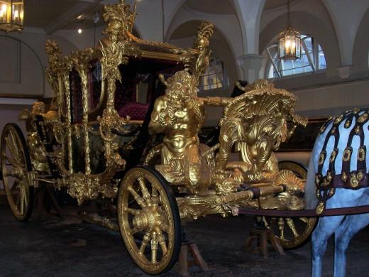 Golden coach at Royal Mews. Photo by ashroc.