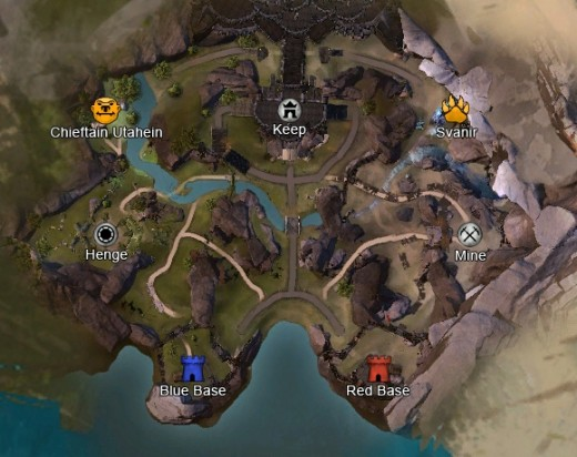 Forest of Niflhel. The map has 3 control points. On the map there's mini bosses that spawns on the map, each giving your team 25 points. The team that gets the final hit that kills the mini boss is the team that gets the points. The mobs spawns in th