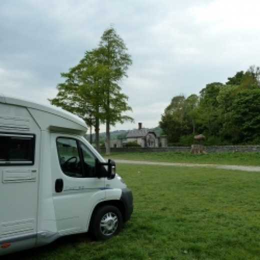 A great motorhome stopover at a farm in Wales