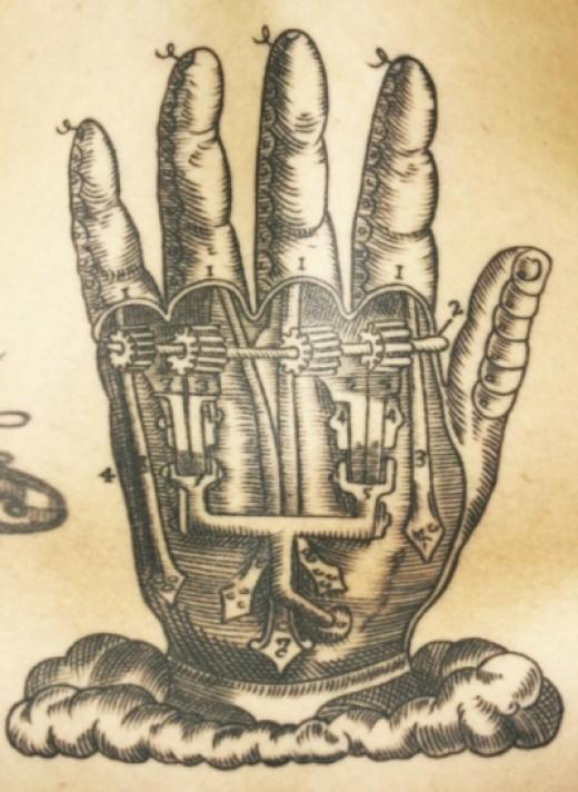 Mechanical Hand Tattoo