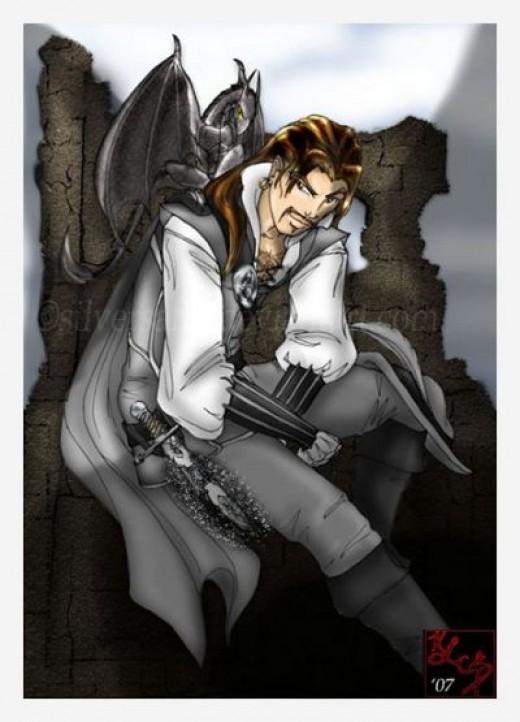 Vlad Taltos and His Jhereg - by Silversaff