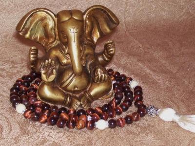 Red Tiger Eye Mala - Sacral Chakra Healing