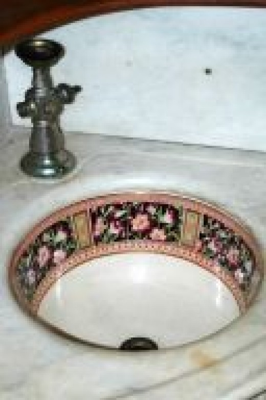 A fantastic sink at the WInchester Mystery House