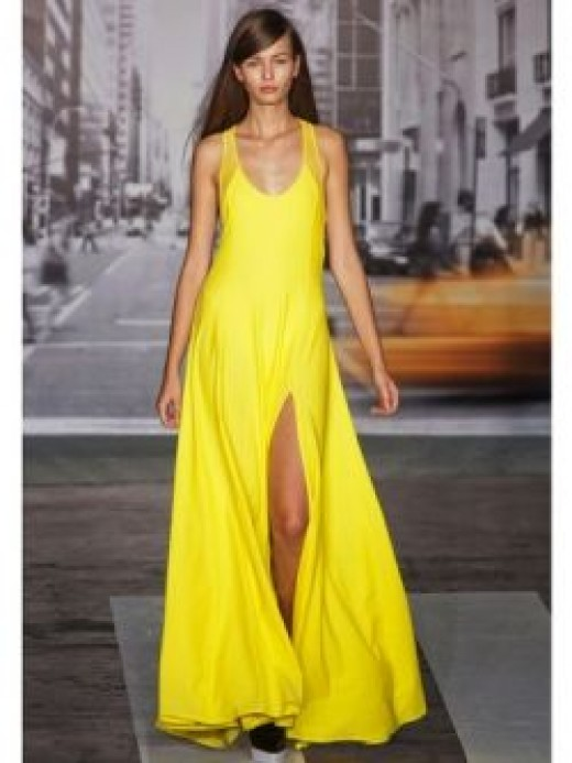 DKNY Spring 2013 Yellow Maxi Dress
