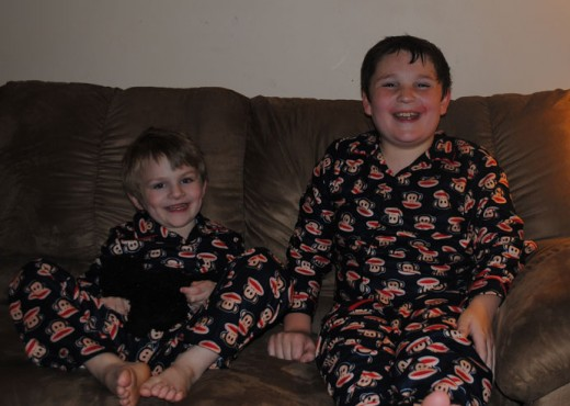 #110 Your little Monkeys wearing their Monkey Jammies