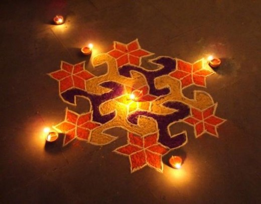 simple rangoli designs for diwal