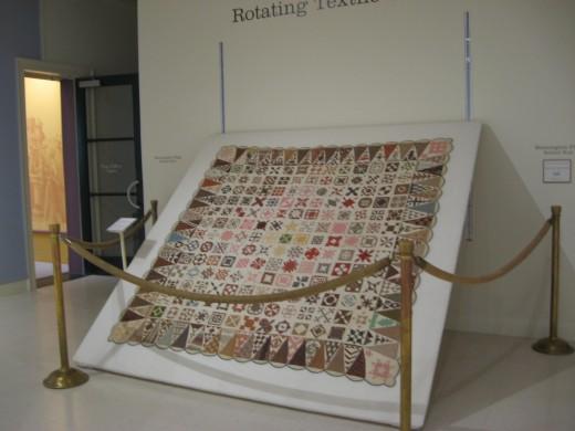 The Dear Jane Quilt Display at Bennington Museum