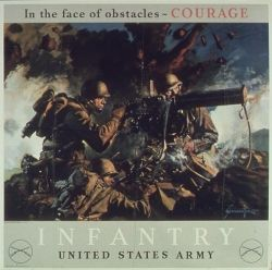 WWII Army Infantry Poster: Unsung Heroes