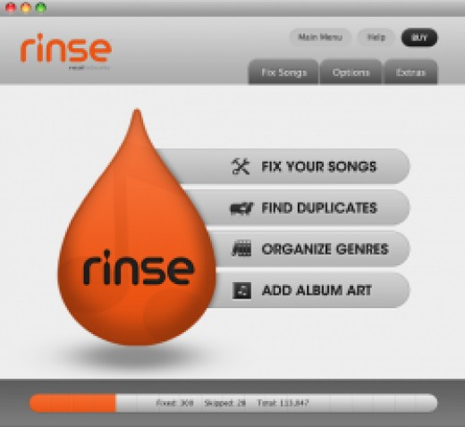 Rinse User Interface Screenshot