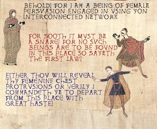 The Bayeaux Tapestry which depicts the great Battle of Hastings