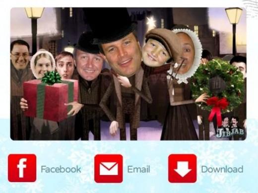A Christmas carol JibJab video card