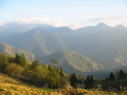 View from a sheepfarm in the mountains of Taiwan. It is hazy in the distance because the day was hazy (no, it's not my photography.)