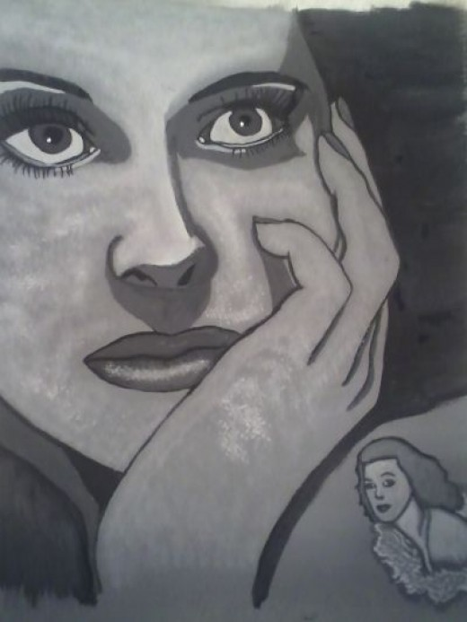 My painting of Hedy Lamarr