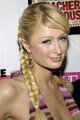 Paris Hilton with a fishtail style braid