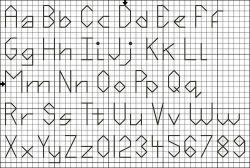 Back stitch alphabet pattern