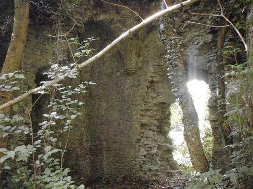 Ruined interior Llangibby