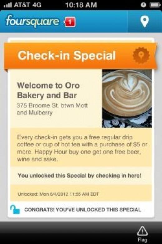 business foursquare page