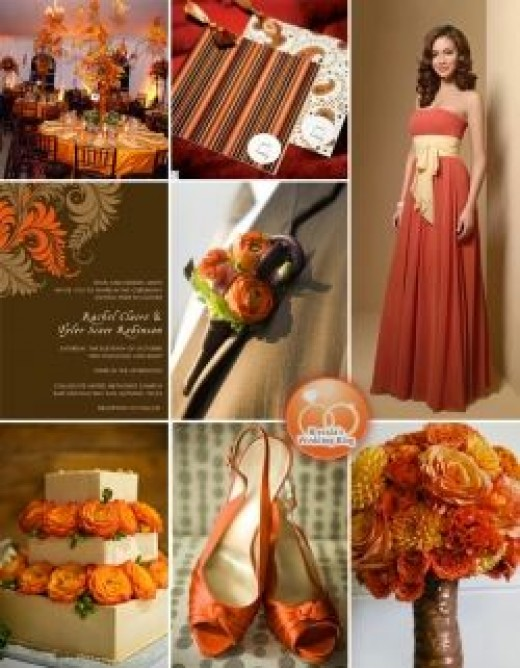 Orange Wedding Color Scheme