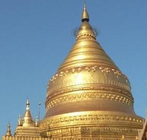 Shwezigon, the holiest of the Bagan Pagodas