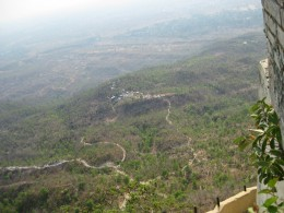 Beyong Mingyan, the area changed from flat to mountainous with scanty greenery.