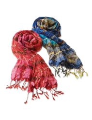 Orvis Coral Striped Scarf from Amazon