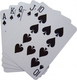 A royal flush is the highest hand in poker!