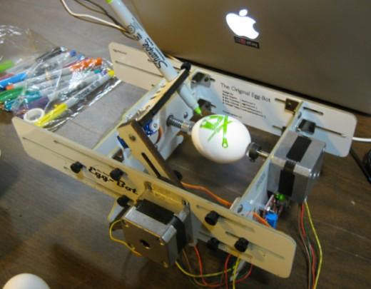 Eggbot CNC plotter