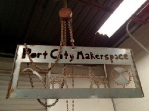 Port City makerspace sign by gruntzooki CC BY-SA 2.0