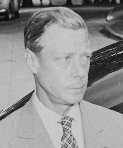 King Edward VIII - ruled from January 20, 1936 to December 11, 1936 (public domain photo from U.S. National Parks Service)