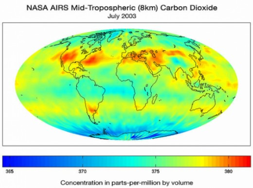 NASA CO2 graphic  AIRS Science Team, JPL Public Domain (Wikipedia Commons)