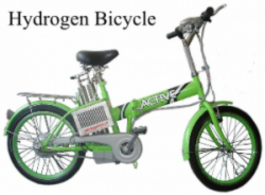 Hydrogen bicycle  - CC by 3.0 by Shanghai Pearl hydrogen power source technology Co