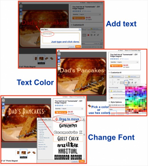 zazzle-text-color-font-annotated-collage