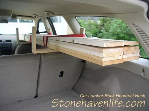Car Lumber Rack Headrest Hack