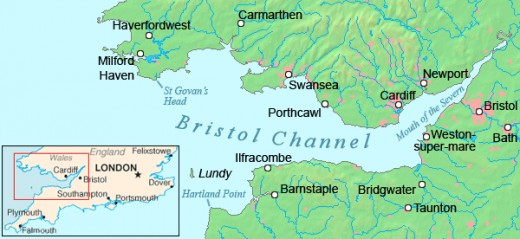 Map showing the River Severn