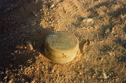 World War II landmine near Bir Hakeim, Libya. Credit: Jerryscuba (Wikimedia Commons)