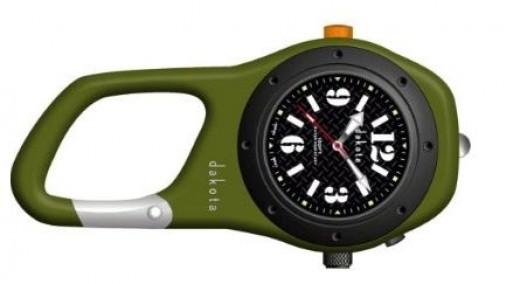 Dakota Watch Company Military Green Mini Clip Microlight