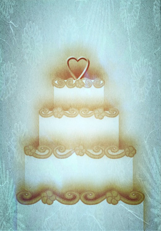 Vintage Wedding Cake 2 Clipart
