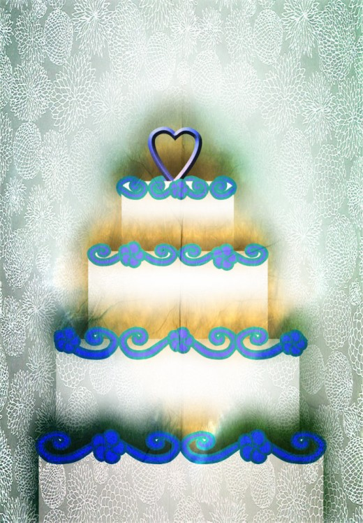 Wedding Cake With Flowers Clipart