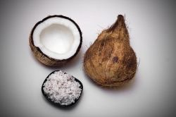 Whole, cut and grated coconut