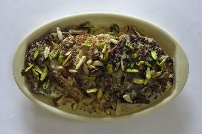 Indian dessert Shahi Tukda
