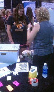 Cat lovers at the show!