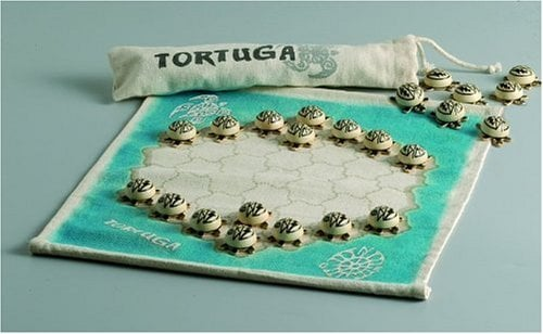 This is the original game. The other has green flat turtles.