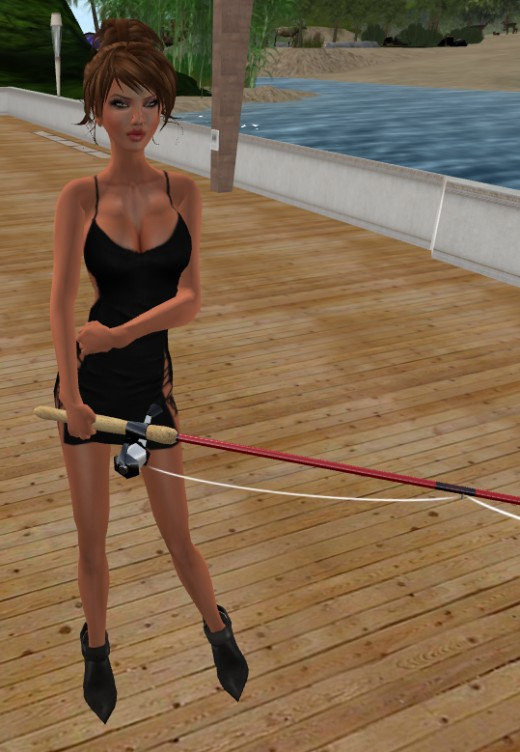 ShaynaDawn Fishing The 7 Seas On Second Life