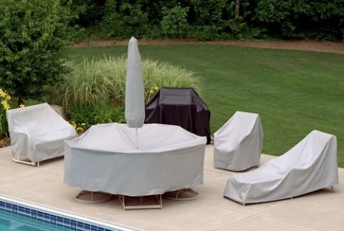 Covered patio furniture