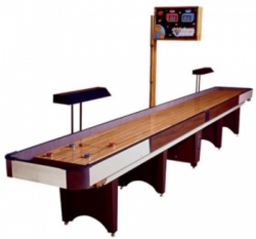 coin-operated shuffleboard table