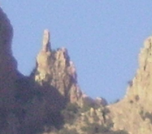 Finger Rock - so named because the approximately 100 foot narrow cylinder of rock looks like a finger pointing upward.