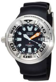 Citizen Men's BJ8050-08E Eco-Drive Professional Diver Black Rubber Strap Watch