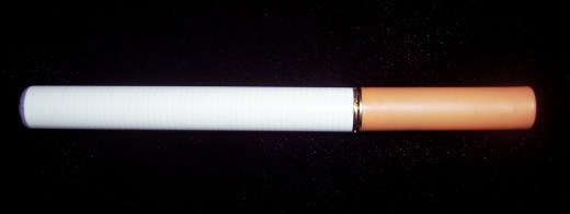 An example of what an e-cigarette looks like