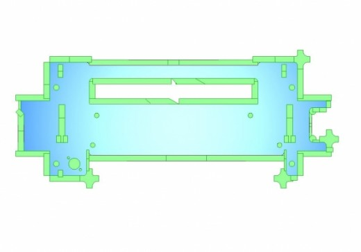 Mild steel sheet metal chassis tooled ready form CNC programming.