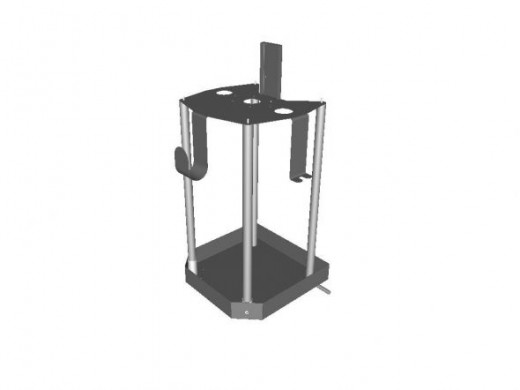 3D model creatd in Radan software of a stainless steel welded assembly used to support a pumping system.